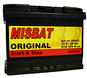 MISBAT START & STOP 60 AH