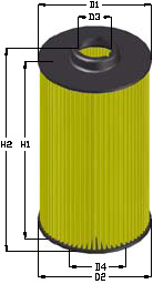 BRÄNSLEFILTER MB C200